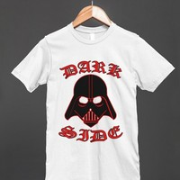 dark side white tee - glamfoxx.com - Skreened T-shirts, Organic Shirts, Hoodies, Kids Tees, Baby One-Pieces and Tote Bags