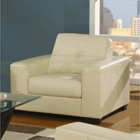Furniture Link - Furniture Link Gemona Ivory Leather Armchair