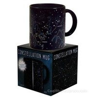 Constellation Heat Sensitive Mug in Black Porcelain, Fun & Unique Gifts