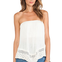 Jen's Pirate Booty Balinese Bandeau Top in Cream