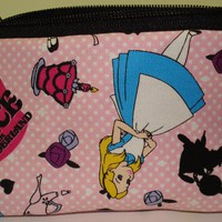 Alice in Wonderland Cosmetic / Makeup Bag