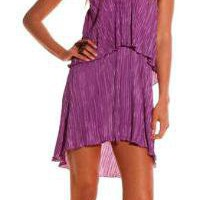 Alexis Brooke layered short dress in purple