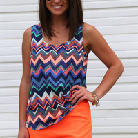 It's a Chevron Summer {Tank}