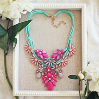 Star Flower Necklace - Multi