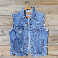 Vintage Distressed Vest - Med/Large