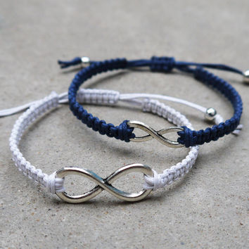 Infinity couples bracelets,Boyfriend, girlfriend jewelry,Anniversary gifts,Bridesmaid bracelet