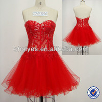 2013 strapless embroidered with hot-fix stone red short dresses, View short graduation dresses, CHOIYES Product Details from Chaozhou Choiyes Evening Dress Co., Ltd. on Alibaba.com