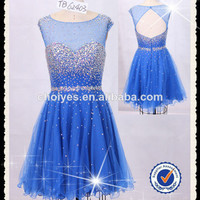 Royal Blue short graduation dresses|Beaded Top|Open Back|Sweetheart Illusion, View evening dresses short, choiyes Product Details from Chaozhou Choiyes Evening Dress Co., Ltd. on Alibaba.com