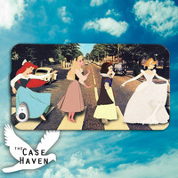 Disney Princess Beatles Abbey Road Cute Snow White Cinderella Ariel Custom iPhone Case for iPhone 4 and 4s and iPhone 5 and 5s and 5c Case