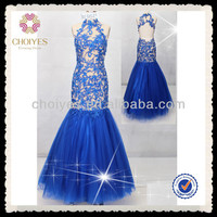 DL50583 royal blue hot sale to America lace see through halter evening dress, View halter evening dress, CHOIYES Product Details from Chaozhou Choiyes Evening Dress Co., Ltd. on Alibaba.com