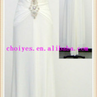 Choiyes J1219-1 V Neck Halter Stone White Chiffon Long Evening Dress 2014, View mother of the bride dress, CHOIYES Product Details from Chaozhou Choiyes Evening Dress Co., Ltd. on Alibaba.com