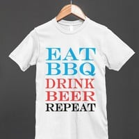 eat bbq drink beer repeat fourth of july reg tee-jh - glamfoxx.com - Skreened T-shirts, Organic Shirts, Hoodies, Kids Tees, Baby One-Pieces and Tote Bags