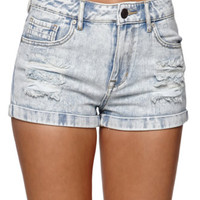Kendall & Kylie High Rise Double Shorts - Womens Shorts - Blue -