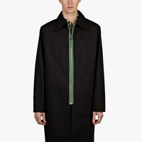 Carven Men's Black Long Collar Mac