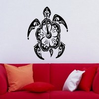 Wall Vinyl Decals Tortoise Turtle Patterns Animal Bathroom Sticker Art Home Modern Stylish Interior Decor for Any Room Housewares Murals Design Window Graphic Bedroom Living Room (2655)