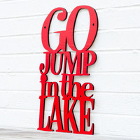 Go Jump in the Lake gift for dad by spunkyfluff on Etsy