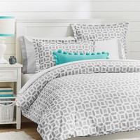Peyton Duvet Cover + Sham, Light Grey