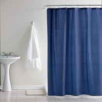 Chambray Denim Shower Curtain