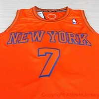 Carmelo Anthony York Knicks 7 NBA Basketball Jersey Orange Carmelo Anthony