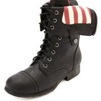 AMERICANA-LINED FOLD-OVER COMBAT BOOTS