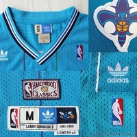 Larry Johnson 2 Charlotte Hornets 1991-1989 NBA Basketball Jersey Larry Johnson Hornet