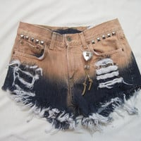 AWSOME LUCKY BRAND denim cut off shorts size 4 by 1960vintagemania