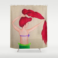 The Little Mermaid Shower Curtain by Sierra Christy Art | Society6