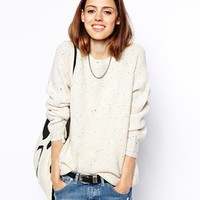 ASOS Ultimate Chunky Jumper In Nep at asos.com
