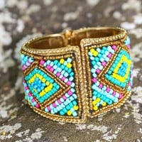 Bead The Way Cuff-Sky