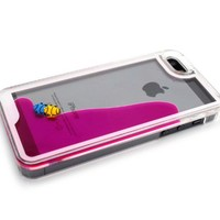Nine States 3D Fantastic Plastic Fish Couple Swimming Hard Case for Apple iPhone 5 5s Color Varies (Plum)