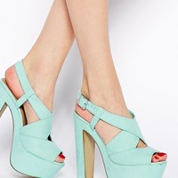 New Look Scuttle Mint Green Heeled Sandals