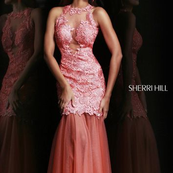Sherri Hill 9711 Lace Evening Gown