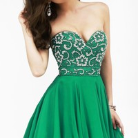 Strapless Sweetheart Cocktail Dress by Sherri Hill