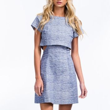 Crosshatch A Scheme Cut-Out Dress