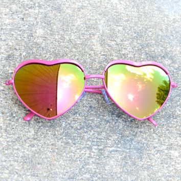 See Your Love Sunglasses: Pink