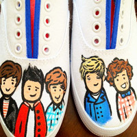 One Direction Inspired Custom Painted Shoes by CMBreverie on Etsy
