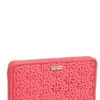 kate spade new york 'cedar street - perforated lacey' zip around wallet