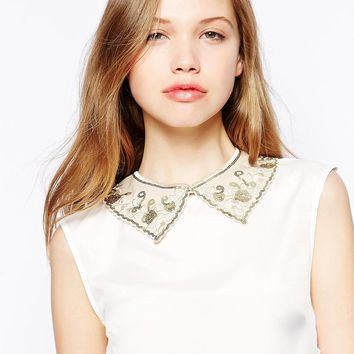 Erin Elizabeth For Johnny Loves Rosie Ashling Embroidered Collar Neckl