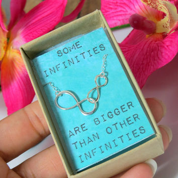 Some Infinities are Bigger than other Infinities, The Fault in Our Stars Quote Necklace, Sterling…