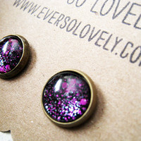 tiny purple & black summer nights and starry skies by EverSoLovely