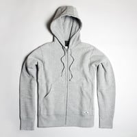 Premium Fleece Zip Hoodie - Grey