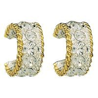 Montana Silversmiths Crystal Shine in Gold Small Hoop Earrings