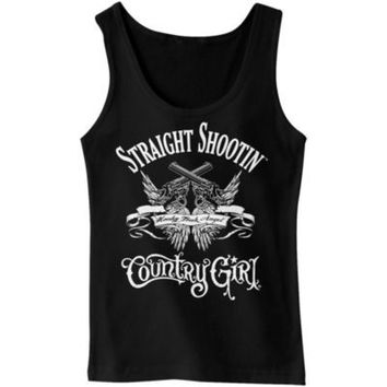 Country Girl® Ladies' Straight Shootin' Ribbed Tank Top