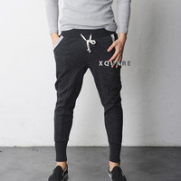 Another Dick Slim-Baggy Jersey Pants
