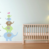 Children Wall Decal Growth Chart Nursery by LittleMooseDecals