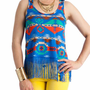fringed tribal tank $17.30 in BLUEMULTI - Sleeveless | GoJane.com