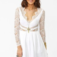 Paradise Stars Dress - White in  Clothes at Nasty Gal