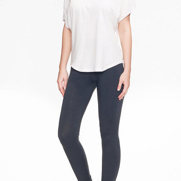 Stretch Wool Leggings in Graphite Grey