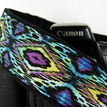 Ikat Tribal dSLR Camera Strap, Batik, Southwestern, Tribal, SLR, 92 a