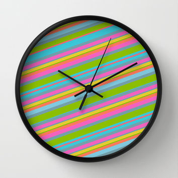 Summer Stripes Wall Clock by Texnotropio